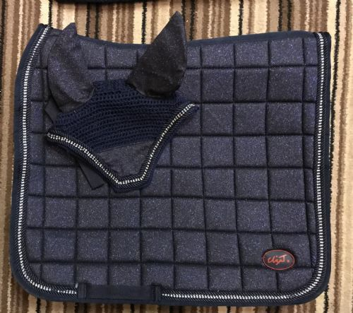 AW19 Eliza T Glitter Sparkle Pad - Navy Shimmer